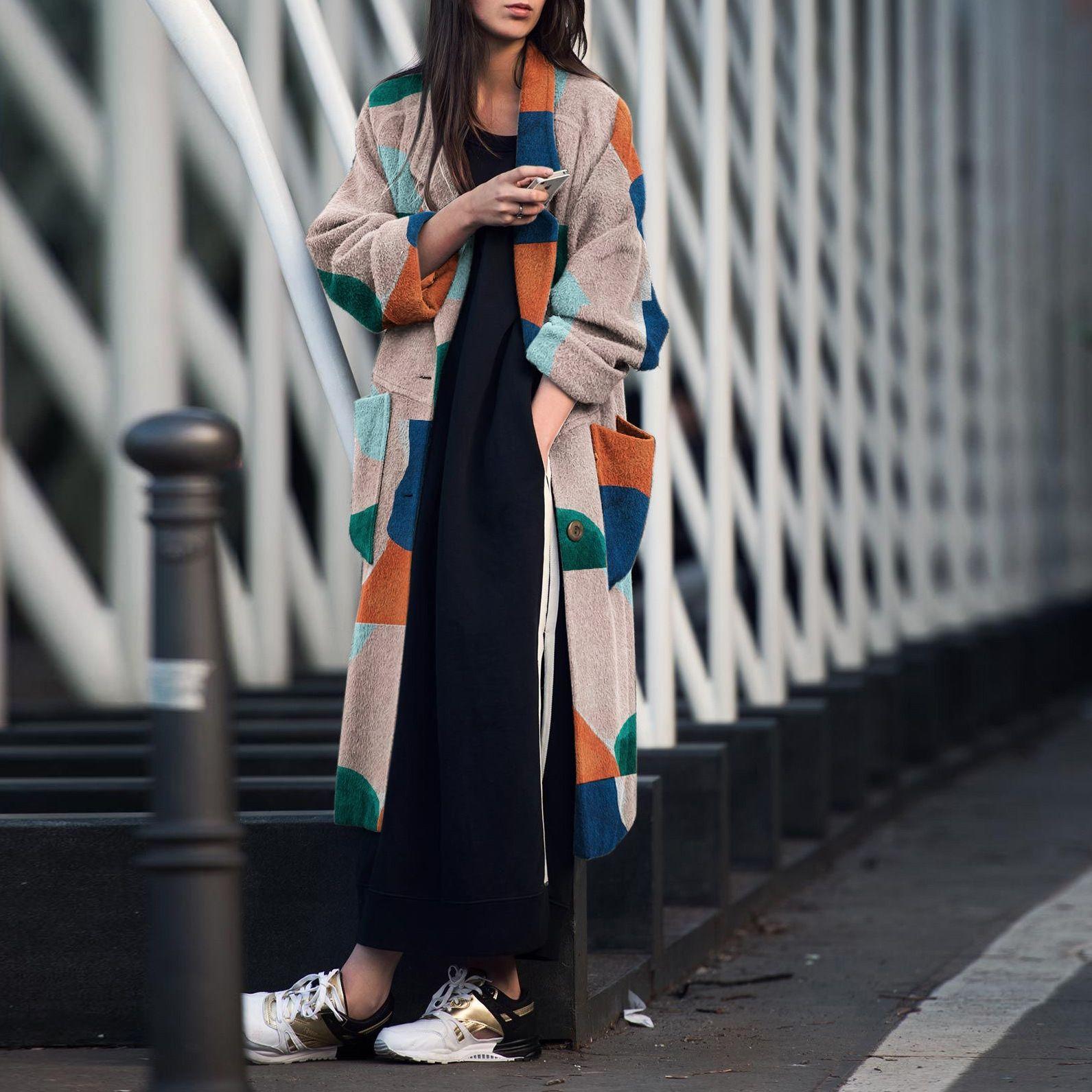 oIl4b cappotto Yi risvolto 2020 modo stampati lungo manicotto cappotto Gu Yi 2020 di modo risvolto stampato lungo manicotto Gu