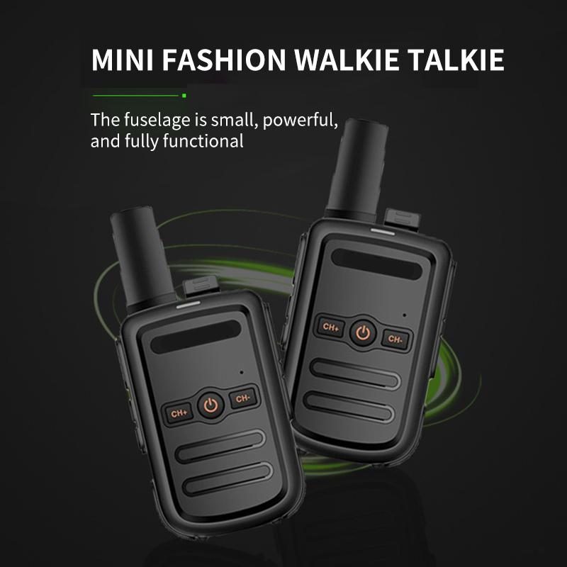 PROFESSIONALE MINI WALKIE TALKIE PRECEDENTE TRACKIE TRASCESSORIVORE DI ALTA QUALITÀ Ultra-sottile Ultra-Small Walkie-Talkie A due Way Radio per escursioni Camping