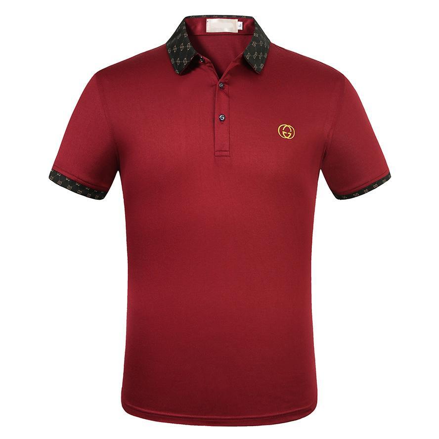 coton haut d'été polo hommes de luxe qualité couleur unie nouveau style polo usine hommes de marque en vente QBQ