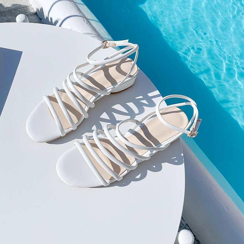 limitado tamaño más alta calidad de grano completo de cuero peep toe zapatos de tacón med mujeres del verano de las sandalias de los alquileres de las mujeres L38