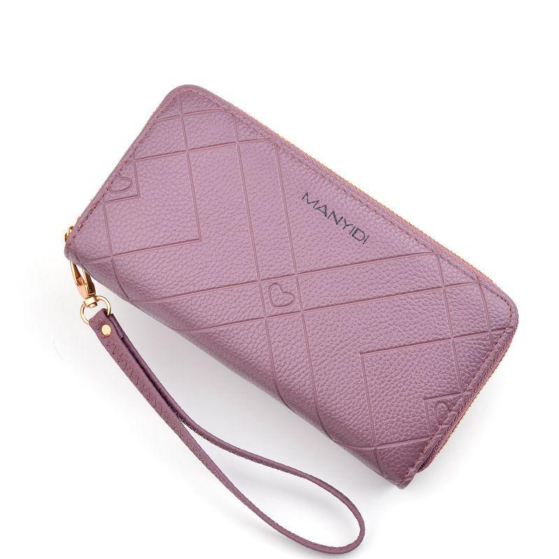 بو الجلود المرأة محفظة سيدة منذ فترة طويلة محافظ اللون المال المحافظ أنثى عملة المحفظة بطاقة حامل المحفظة جلدية