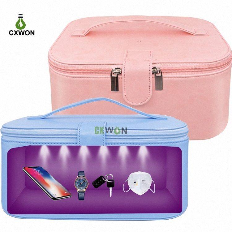 USB portátil esterilizador UV Bolsa Multifuncional 6LEDs UVC Desinfección Bolsa de carga del LED ultravioleta esterilización Box Paquete # JuRv