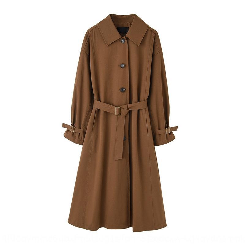 stile Hepburn coreano lunghezza media di XIZUn 3Knk6 Loose Women 2020 nuovo temperamento Windbreaker stile giacca a vento fan temperamento dea ginocchio ov