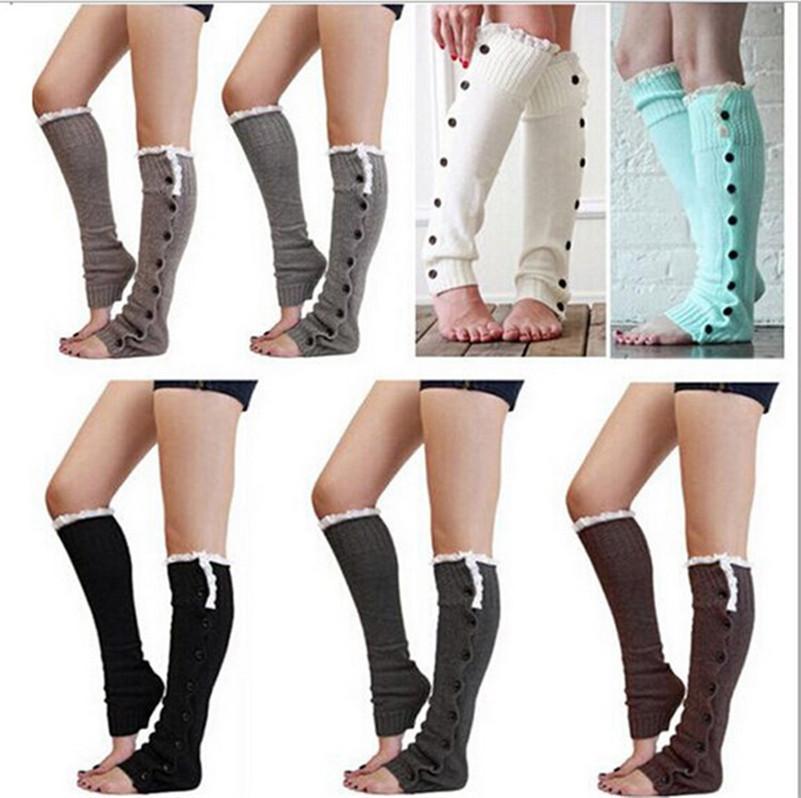 الصلبة الدافئة الحياكة الأكمام الساق الركبة العليا الجوارب حك التمهيد الكفات القدم تدفئة طويلة جوارب السيدات زر الرباط الجوارب الأكمام E9102