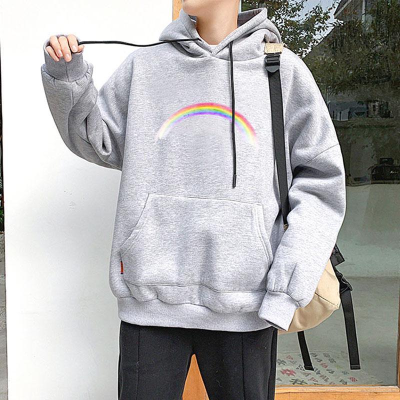 Autumn Hoodie Sweatshirts Sweat Warm Damen Herren Pullover Harajuku Licht Tops Wear mit Tasche Pullover beiläufige lose Sweatshirt