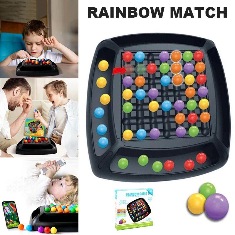 Eliminare Arcobaleno gioco della palla Adulti Bambini Arcobaleno puzzle magico Chess Set Toy Eliminazione Fun DTT88