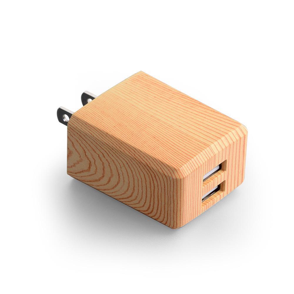 100шт 5V 2.1A 2-Port Wood производства Dual USB Универсальное зарядное зарядное устройство AC адаптер EU / US Plug для IPhone 6 6s 7 7Plus Xiaomi Samsung