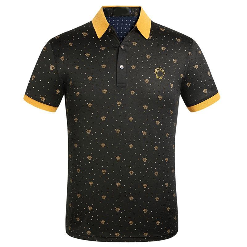Designer di lusso Polo per i Mens Polo Estate Marca Polo Moda Uomo Top manica corta Abbigliamento alta QualitySS9