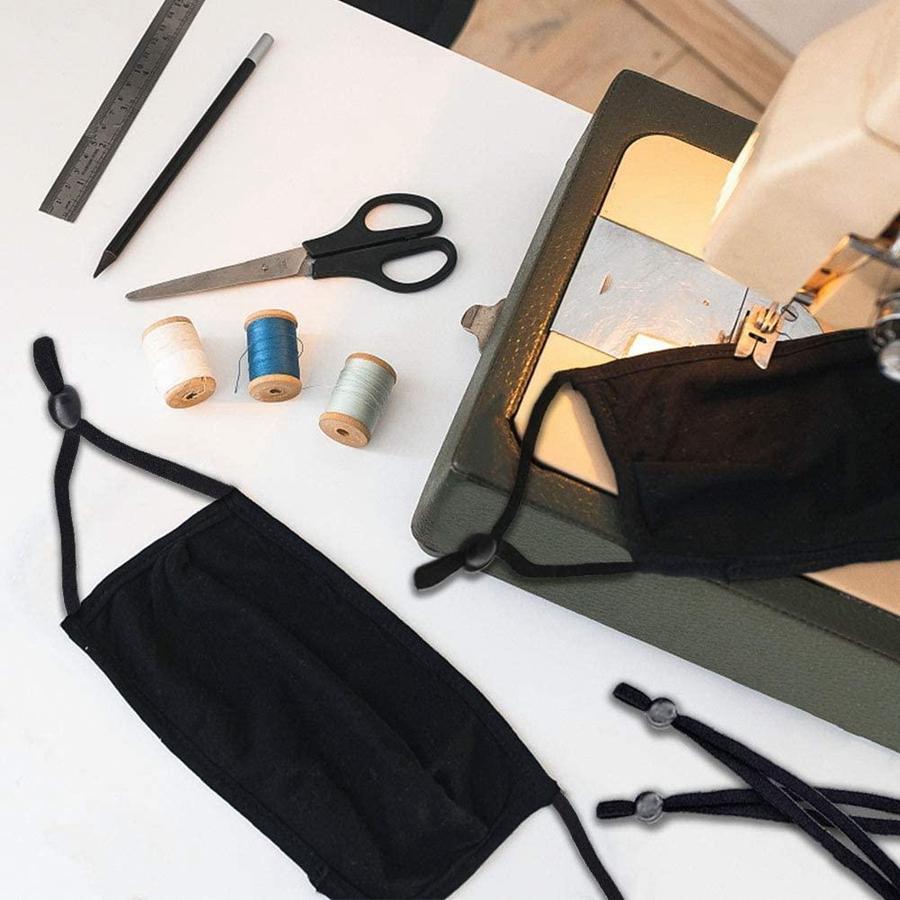 10cm 12cm bricolage masque couture bande élastique cordon avec boucle réglable Stretchy Masque contour d'oreille Longe Coquilles Fournitures Faire corde DDA586