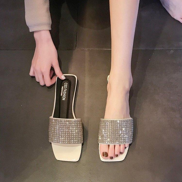 YfOtd Frauen 2020 Sandalen und sandalsSlippers sandalsSpring neue koreanische Dadongmen Internet Berühmtheit Sandalen Stone flache Sohlen Student s