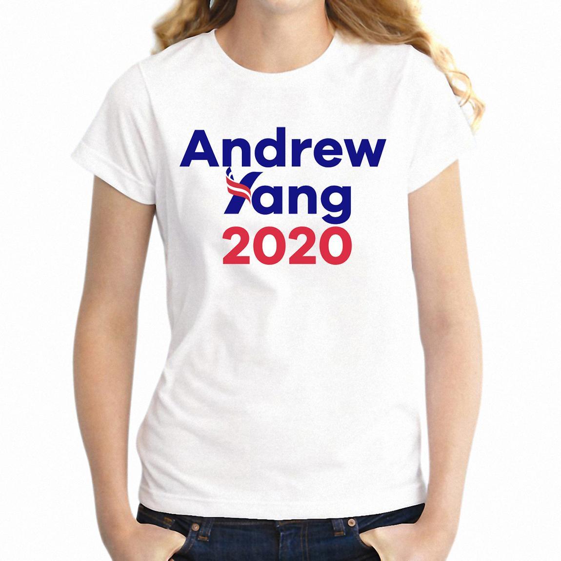 Femmes T shirt Andrew Yang 2020 Candidat présidentiel Humanity First Freedom dividendes impressionnant T-shirt de dessin fille