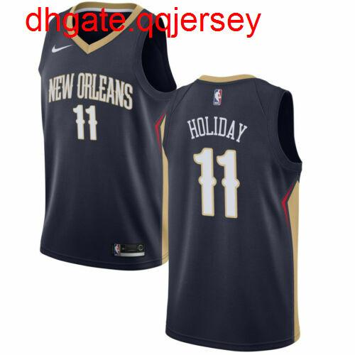 Cheap Jrue Holiday # 11 de Homens Jersey Oficial equipamentos de basquetebol New NkVest costurado
