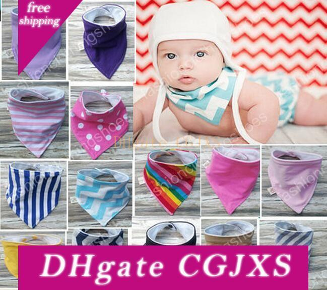 38 Color Ins Waterproof Layer 2 Baby Apron Manual Triangle Towel Cotton Double Triangular Bandage Buckle Baby Drool Towel Chinese -Style Che