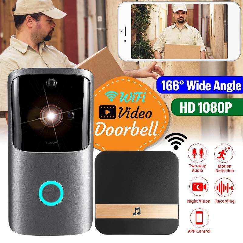 Wireless Video Smart Doorbell Wifi Intercom Doorbell Low Power Monitoring Video Recording Rainproof Night Vision With 6 IR LED Support APP