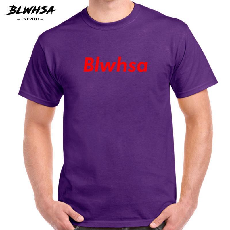 S-5XL Casual T shirt dos homens de manga curta O pescoço letras impressas camiseta de algodão 100% para os homens Marca Hip Hop Teetop
