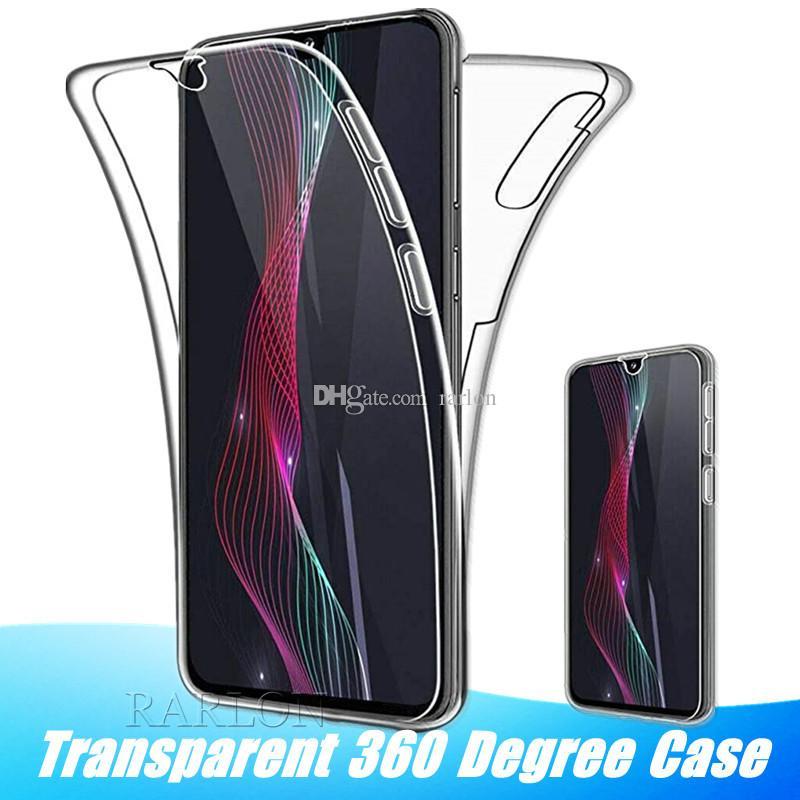 Transparente 360 Degree Caso cobertura completa com protetor de tela para Samsung A31 A51 A71 S20 Ultra M31 S10 S9 Nota 10 Pro A7 A9 J3 J7 2018
