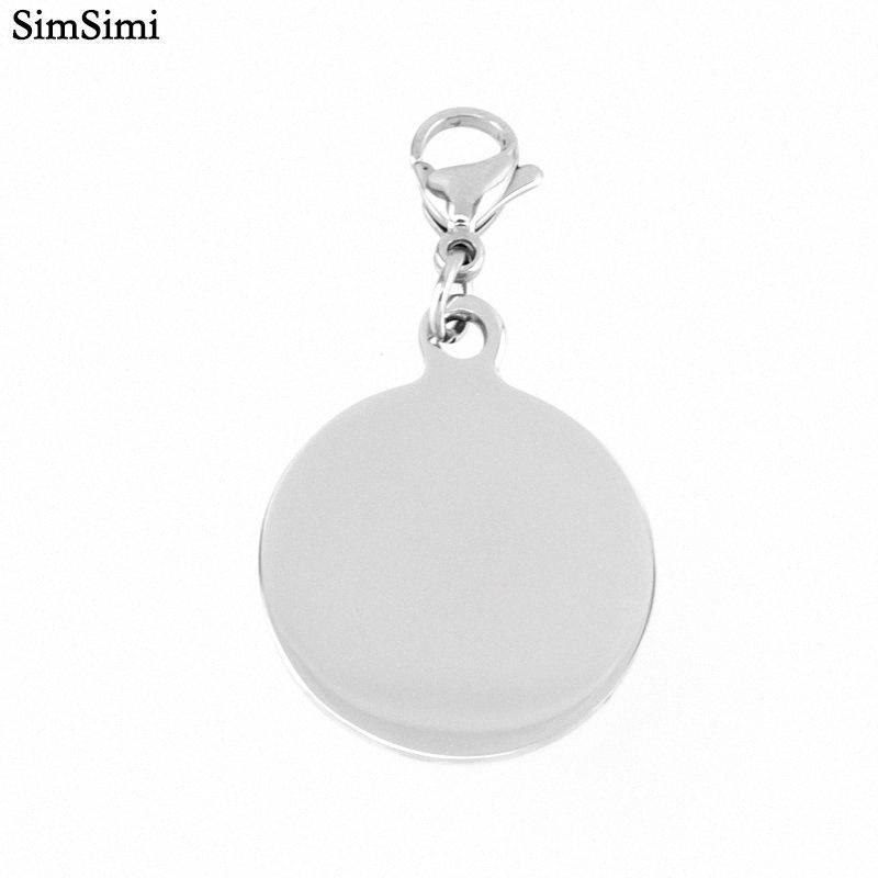 Нержавеющая Шарм Подвеска Круглый Blank Tag Double High Зеркальная Классический для ожерелья Изготовление Оптовая 10шт HVfX #