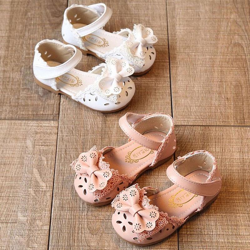 Sandali bambini calza pattini della principessa del bambino della neonata infante neonate Bowknot elegante Fiore Principessa sandali T4ip #