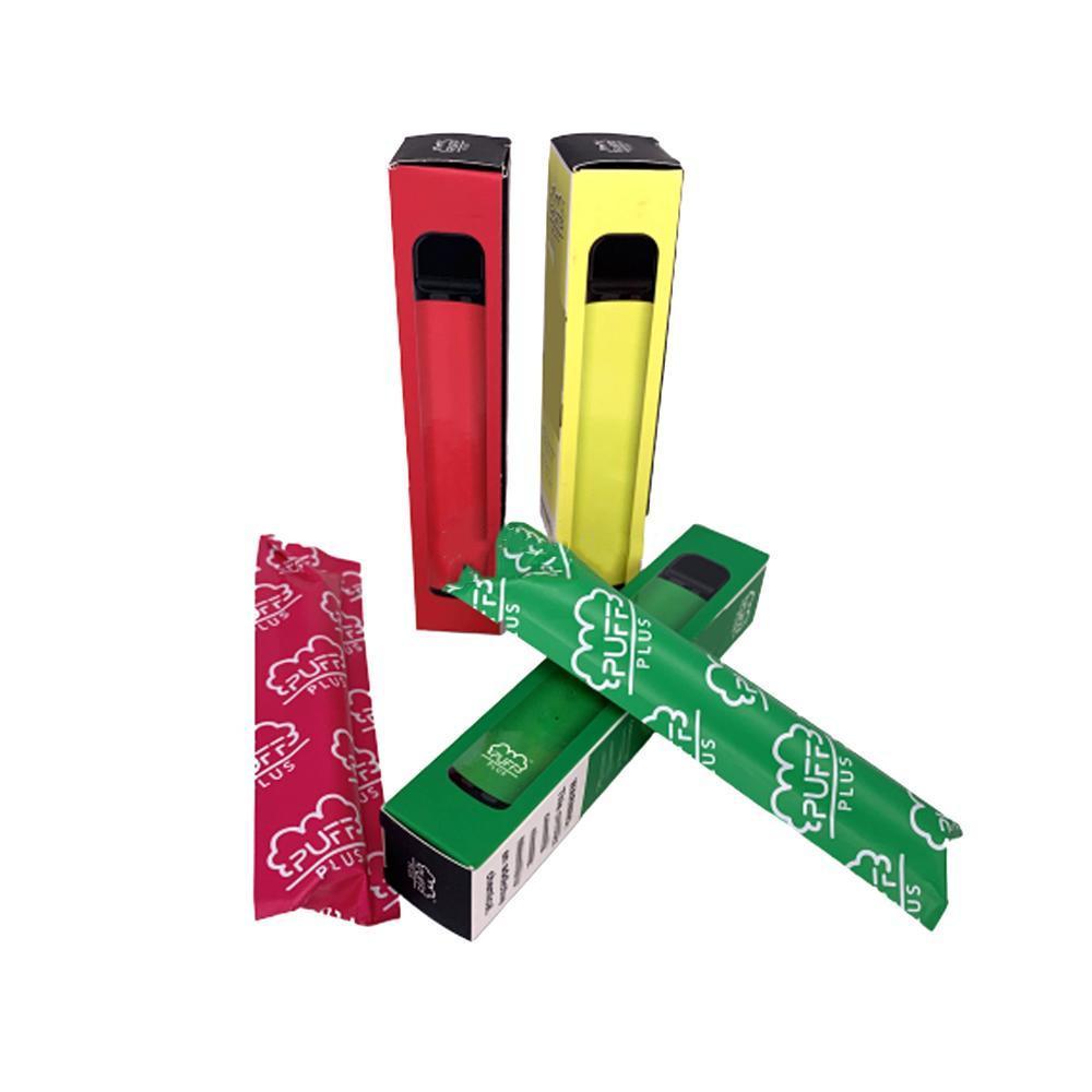 퍼프 바 플러스 일회용 vape 800 + 퍼프 카트리지 550mAh 배터리 3.2mL 미리 채워진 Vape 포드 스틱 스타일 vape 담배 휴대용 기화기