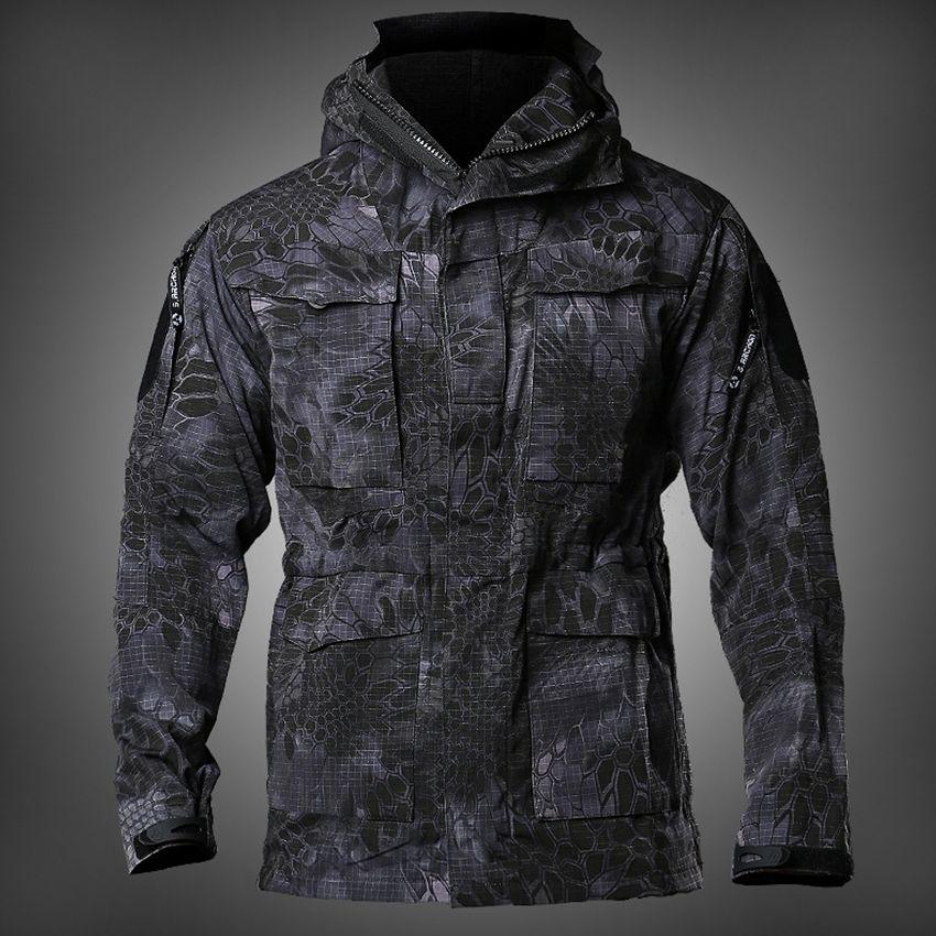 YENİ Erkek M65 UK ABD Ordusu Giyim Askeri Alan Ceketler Kış / Sonbahar Su geçirmez Uçuş Pilot Coat Hoodie WINDBREAKER Dört renk CX200824