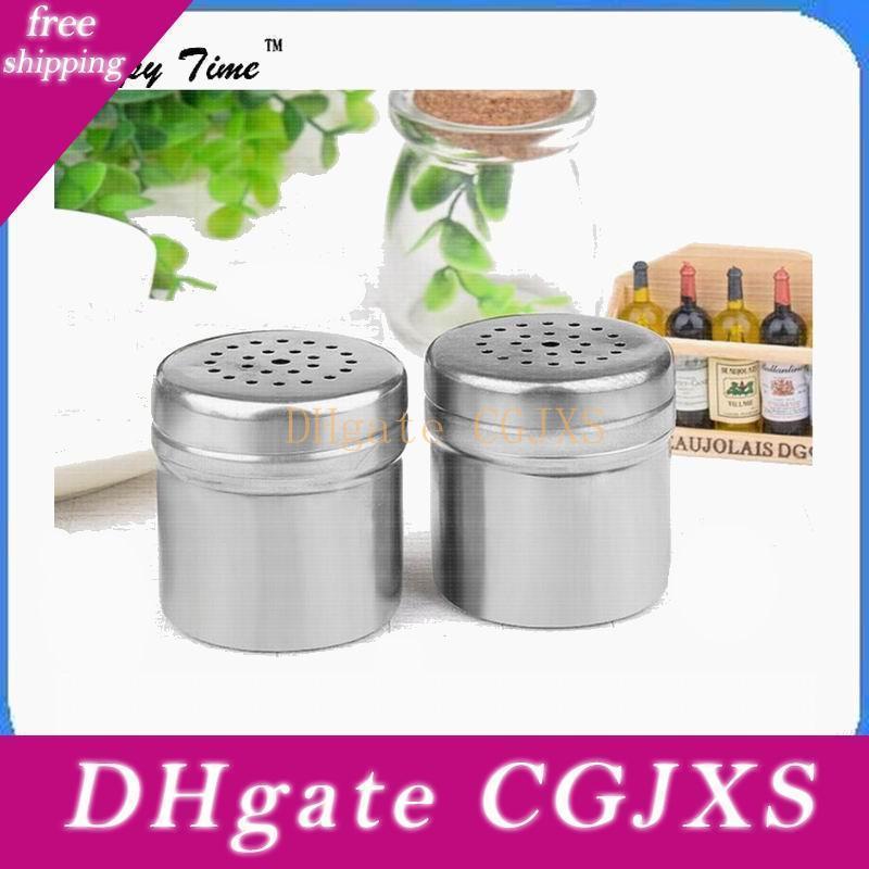 Di Shiping 50pcs della casa di modo Cucina Forniture multifunzionale in acciaio inossidabile vaso Bottiglia Contenitore stagionatura può Salt bagagli