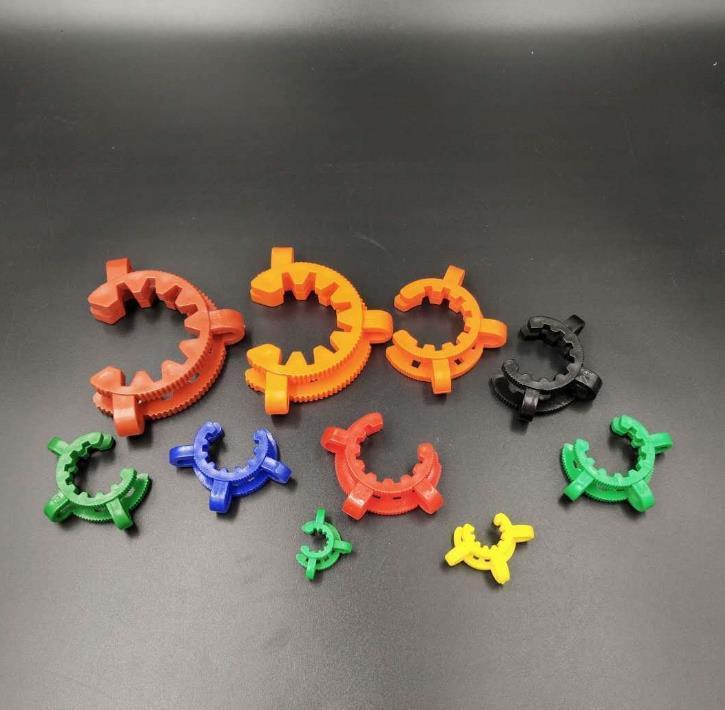 Am billigsten ! 10mm 14mm 19mm Schliff Kunststoff K Clip Farbe Kunststoff Keck La boratory Lab Clamp Clip Handtuch