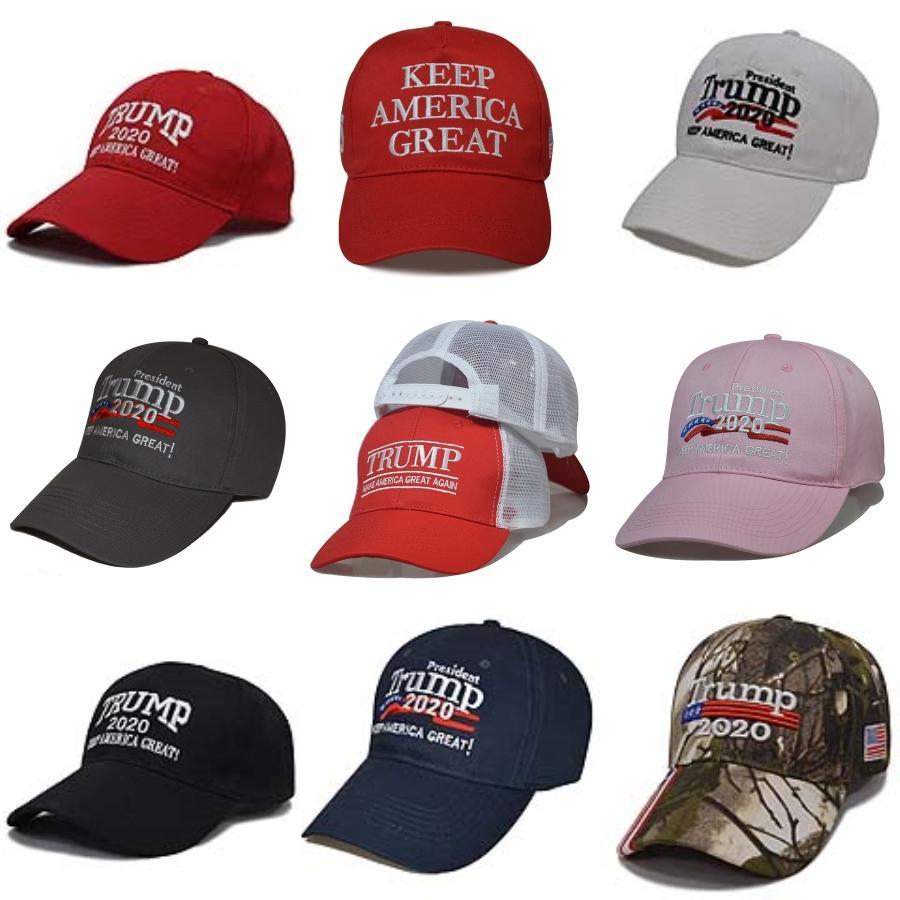 Trump Camouflage Baseball Hat 2020 font de l'Amérique Grand Donald Trump Election Cotton Broderie Sports Caps Outdoor Sun Casquette IIA71 # 296