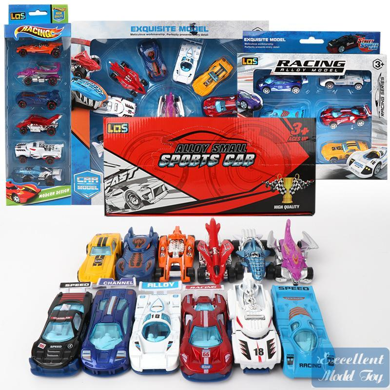 BNS Diecast Car Model, Boy 1:64 Mini Pocket Toys, Racing Sports Car, Spacetime Chariot, Monster Truck, Xmas Kid Birthday Gifts, Collect, 4-1