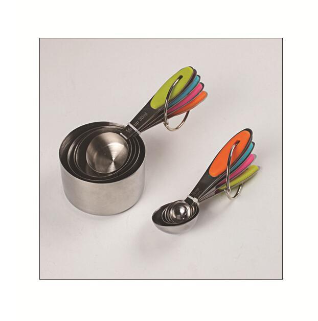 Kalıplar Paslanmaz Çelik Pişirme Kulp Tutma Bakeware 10 adet OWE937 ile Bardaklar Kaşık Seti Mutfak Araçları Ölçme