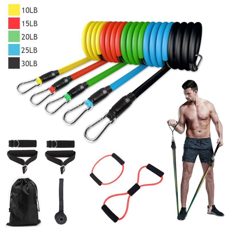 11PCS UND 13PCS Latex-Widerstand-Bänder Übung Yoga Kit Crossfit Fitness Tubes Yoga Set Crossfit Fitness Tubes Bands Gym Kit