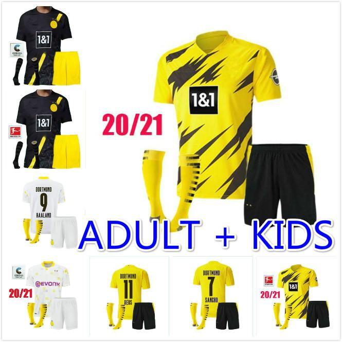2020 Borussia 2020 2021 Adult Men Kids Dortmund Haaland Soccer Jerseys Kit 20 21 Hazard Gotze Reus Witsel Paco Alcacer Third Set Football Shirt From Ggg559 16 59 Dhgate Com