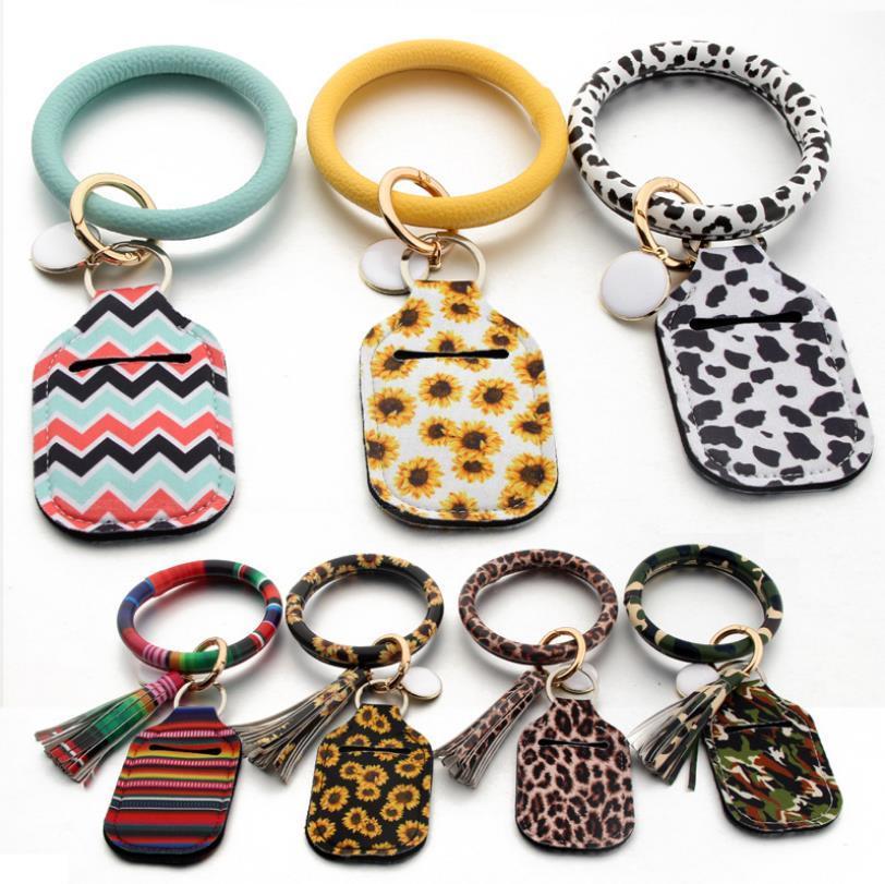 Porte-bracelet Sanitizer PU Bracelet en cuir néoprène Couvre Porte-sac à main monnaie Porte-bracelet accessoire de mode pas cher AAF1780
