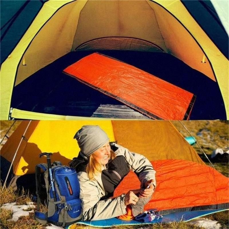 Kurtarma Battaniye Emniyet Windproof 213 * 93cm PET Sıcak Acil Dişli Camp Acil Battaniye Taşınabilir Survival udlr # tutun