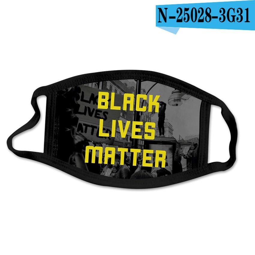 40style black lives matter Mask I Cant Breathe BLM Face Masks George Floyd Adult Dustproof Washable Designer Cotton Cover Mask new GGA3690