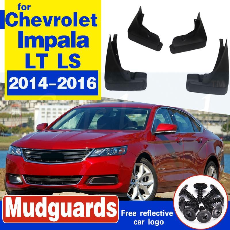 Bavettes garde-boue voiture boue Rabats pour Chevrolet Impala LT LS Fender Garde-boue avant 2014 2015 2016 Protecteur arrière