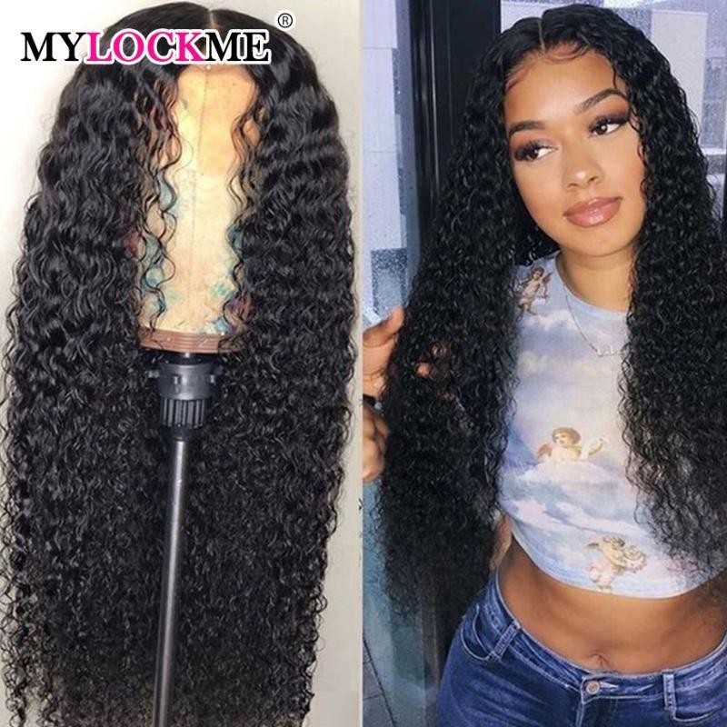 Derin Dalga 13x4360 Dantel Kapatma İnsan Saç Peruk Brezilyalı Derin Dalga Peruk Remy Saç Kadınlar MYLOCKME İçin Ön koparıp
