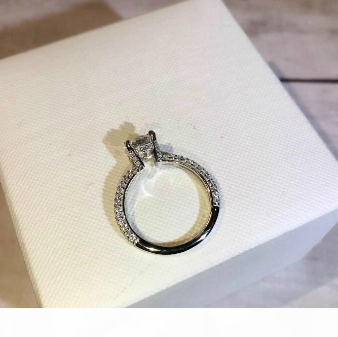 DB casamento jóias engajamento mulheres anel de 925 anel de diamante de casamento de prata para o presente de jóias mulheres