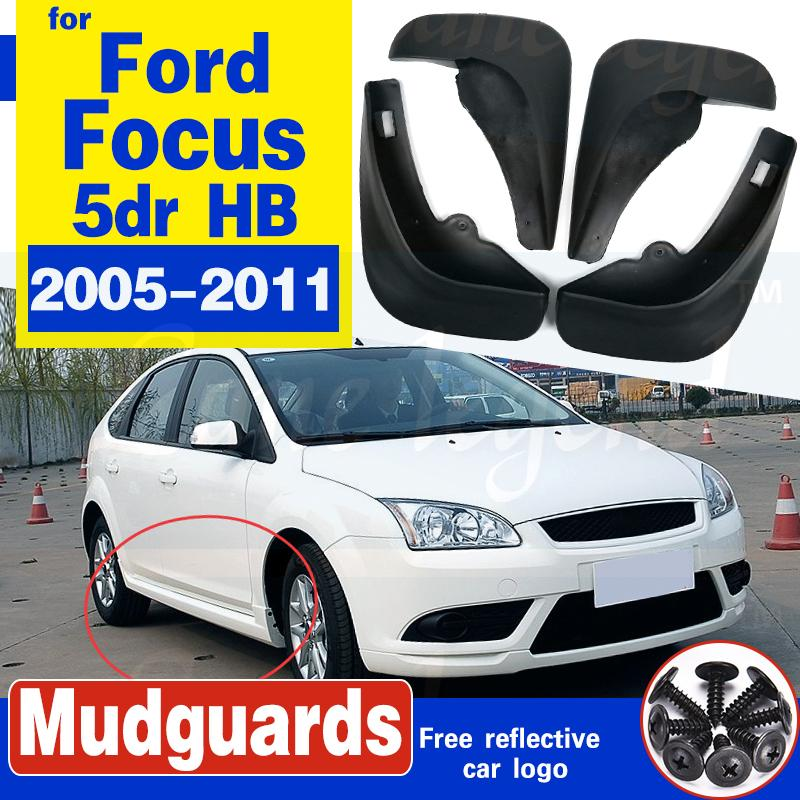 Freie Verschiffen-Qualitäts ABS Kunststoff Autokotflügel Kotflügel Schmutzfängern für 2005-2011 Ford Focus 2 MK2 5dr HB