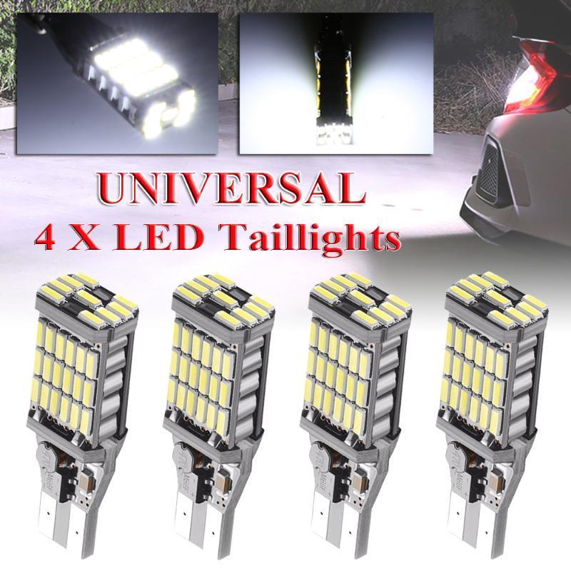 Işık Koşu 2adet / 4pcs Evrensel LED Oto Ek Lamba Stop lambaları Süper Hafif Parlak Beyaz Ters Işıklar Araç Gündüz
