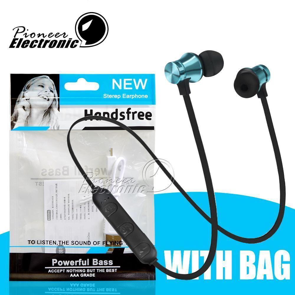 Xt11 Wireless Headphones Sport Bluetooth fondo da magnete auricolari Cuffie auricolari Bt 4 .1 stereo con il Mic per Iphone Samsung Opppackage