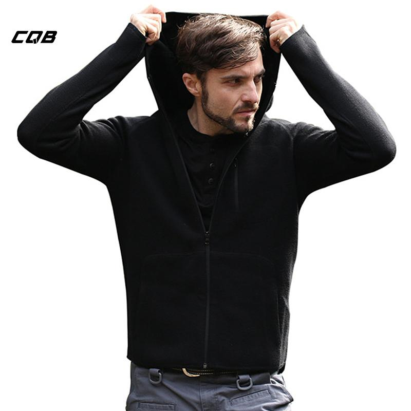 CQB Outdoor Sports Camping Men's Warm Fleece Jackets Wool Thermal Clothes Breathable Jacket Windproof Coat for Hiking
