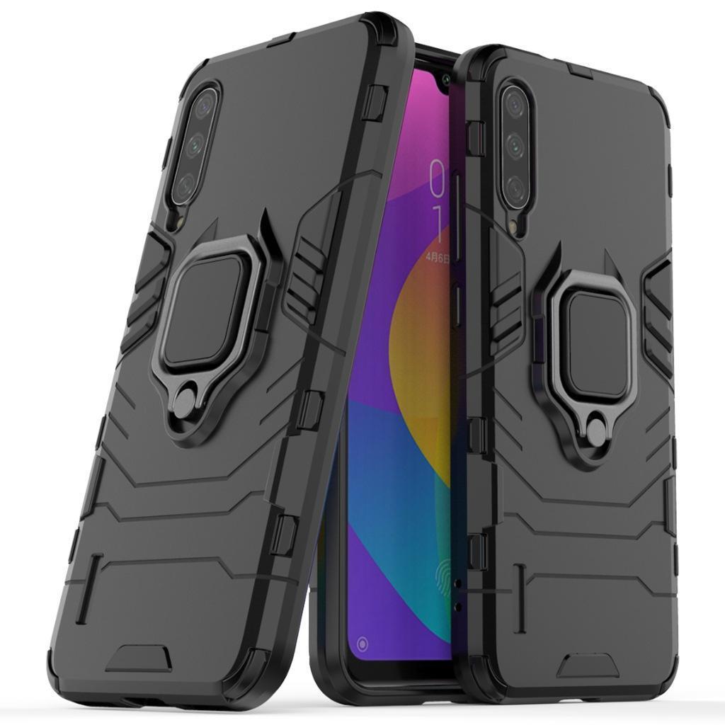 CgjxsRing Porte-Béquille Housse Armure robuste double couche Pour Xiaomi CC9 Cc9e A3 A3 Lite redmi 7a redmi K20 50pcs