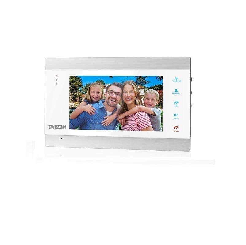 TMEZON 7 Zoll HD1080P Smart Video-Türsprechanlage Sprechanlage mit High Definition Wired Türklingel-Kamera, Unterstützung Fernentriegelung