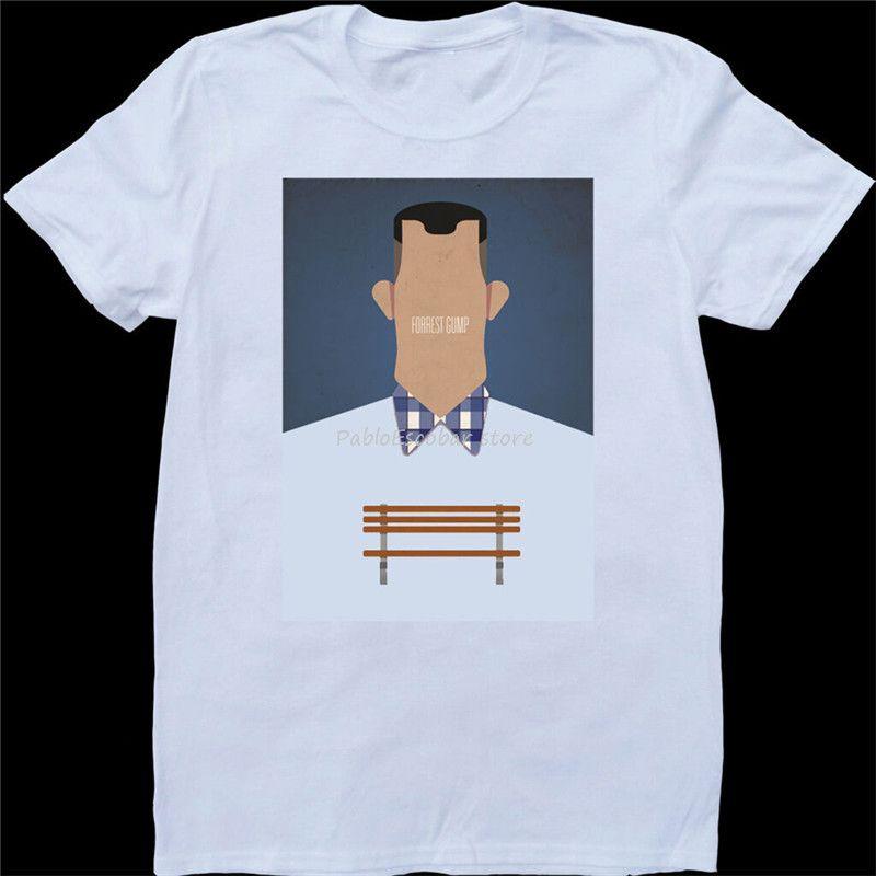 Forrest Gump Weiß, nach Maß T-Shirt druckte T-Shirt Neuer Mode-Entwurf für Männer Männer-Sommer-T-Shirt Marke Tops