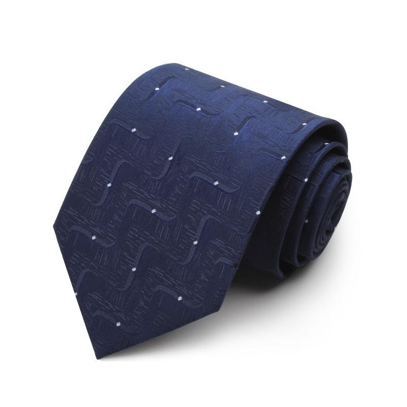 Hohe Qualität 2020 Designer neue Art und Weise Punkt-Marine-Blau-Rot 8cm Krawatten für Männer Krawatte Hochzeit Geschäfts-formalen Anzug mit Geschenk-Box