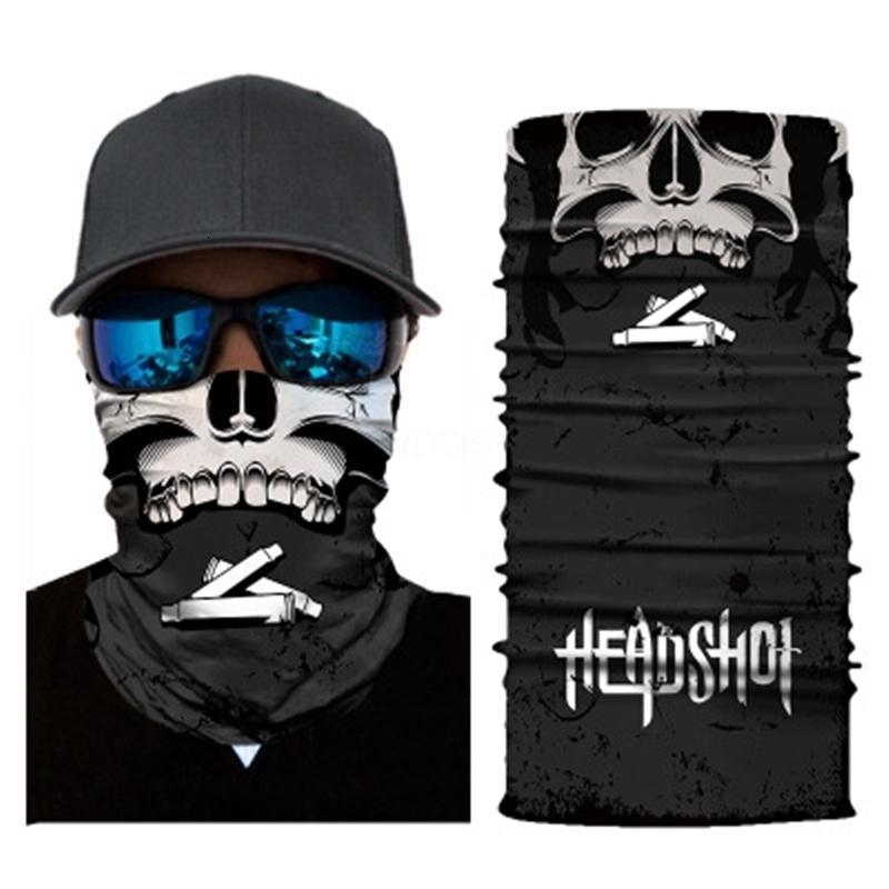 Nuovo stellata Stampa Ciclismo Sky Skull Hairband Sciarpa Maschera All'aperto Volto Skull Scarf fascia leggera e traspirante Edc magica molle Copricapo K95