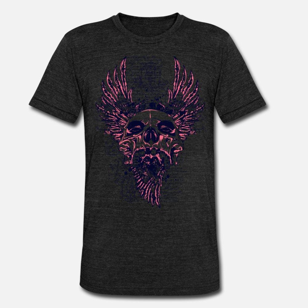 Diseño fresco del arte gráfico del cráneo del metal T camisa de los hombres Proyectos Camiseta S-XXXL Camisa Cuadros regalo nuevo de la manera del estilo del verano normal