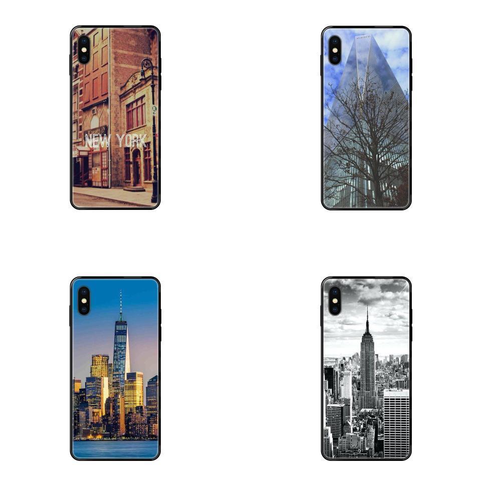 Nyc New York Villes pour iPhone 11 12 Pro 5 SE 5C 6 5S 6S 7 8 X 10 XR XS Plus Max souple TPU Case Cover Capa