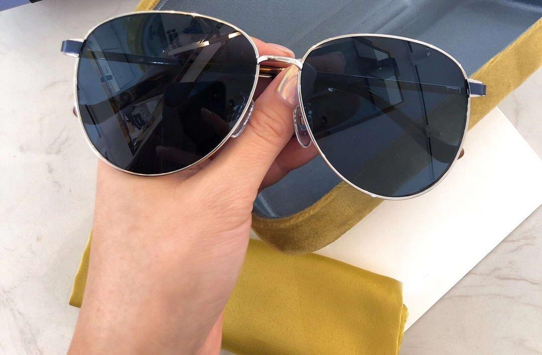 Shades Bleu Design Occhiali Sole 0573 Lunettes de soleil Metal da Hommes Sonnenbrille Sunglasses Pilote avec boîte Mffen