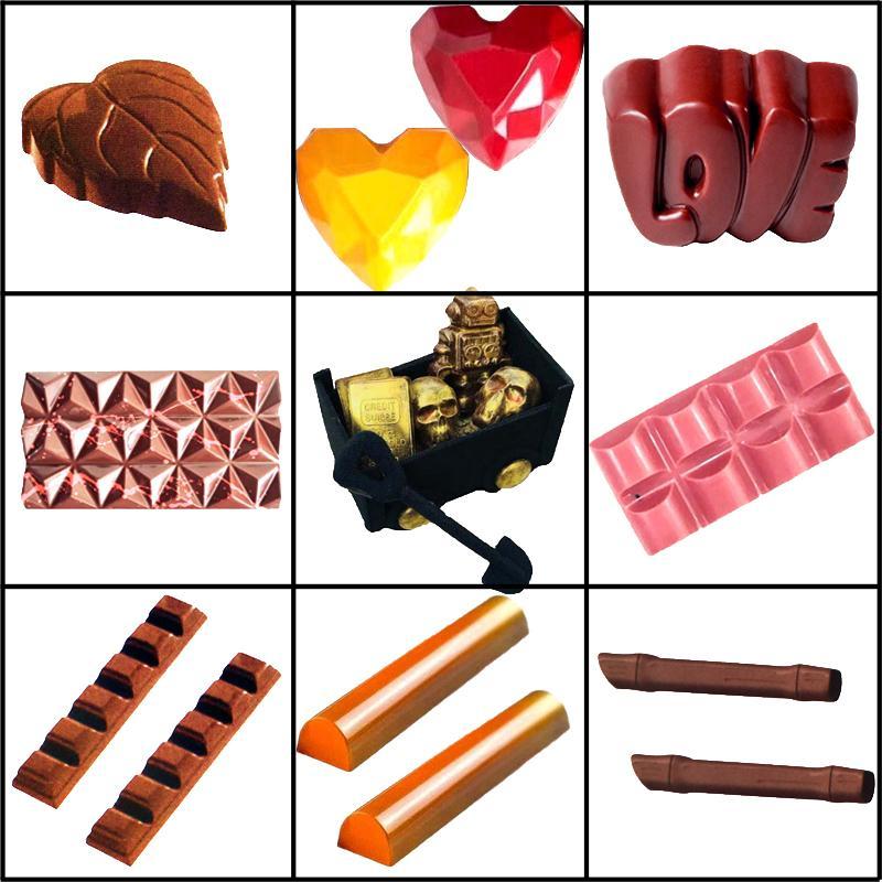 Meibum Çocuk Sert Şeker Kalıpları Aşk Elmas Polikarbonat Çikolata Kalıpları Pasta Araçları Şekerleme Tatlı Pişirme Tepsi Y200612